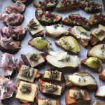 Sweet Potato Toast Thanksgiving Appetizer