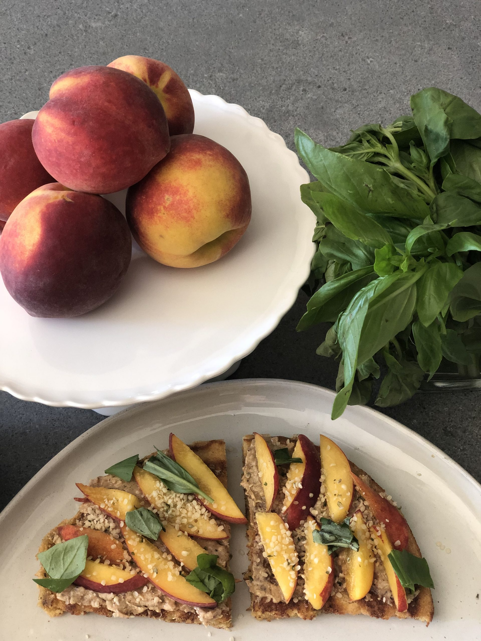Paleo Peach Breakfast Pizza