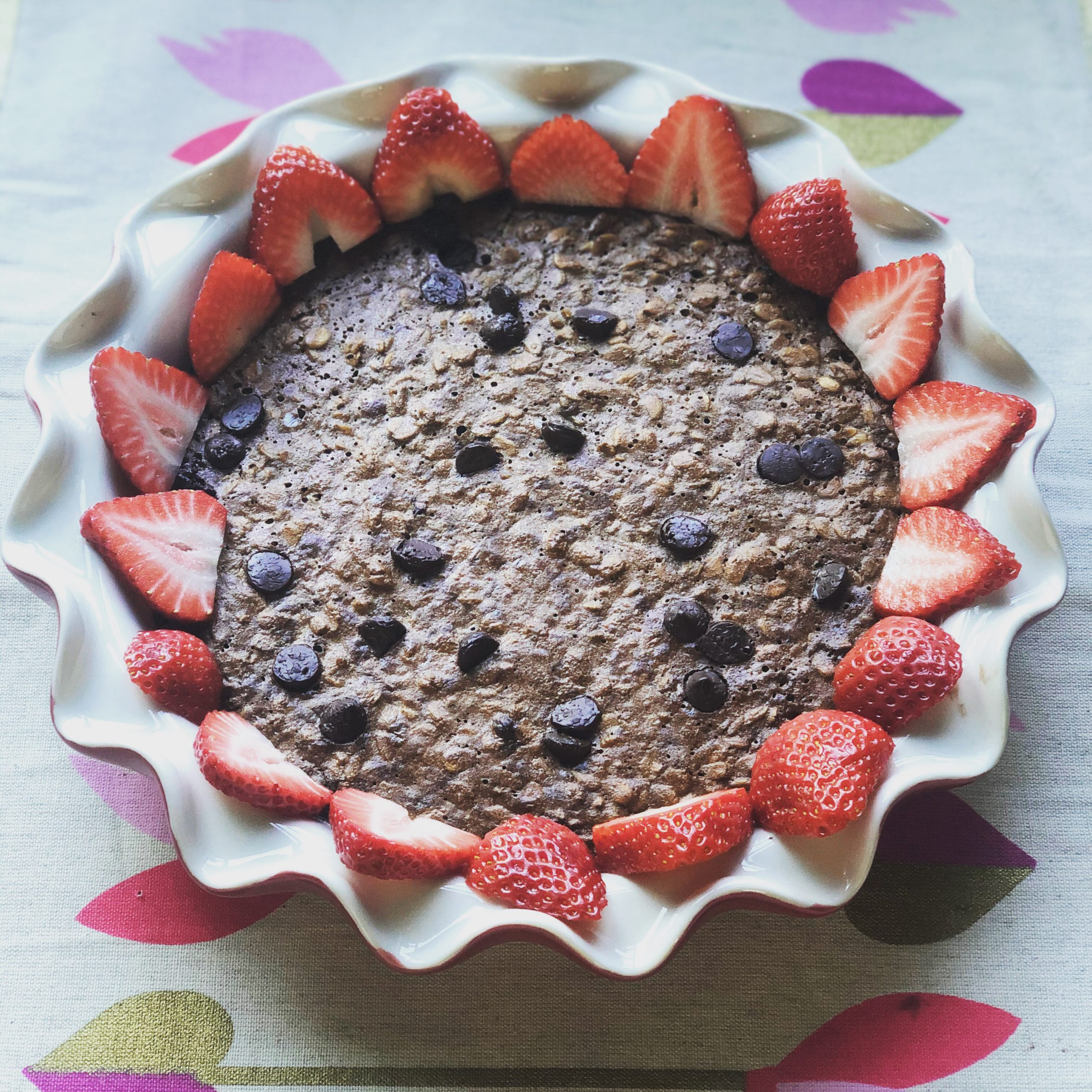 Chocolate Baked Oatmeal for Valentines